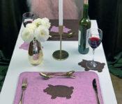 Baron Bacon rosenholzmeliert-braunmeliert